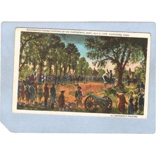 MA Cambridge Washington Taking Command Of the Continental Army July 3,1775~291
