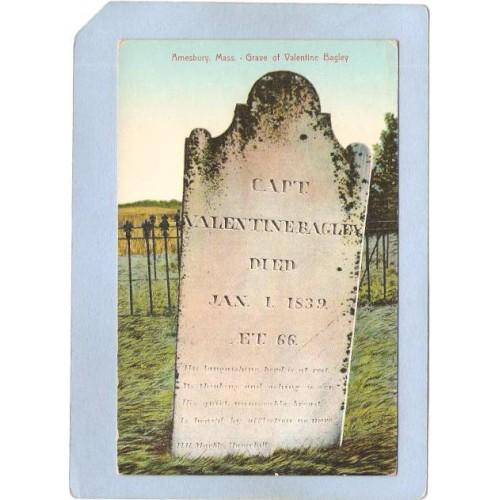MA Amesbury Grave Of Valentine Bagley ma_box1~35