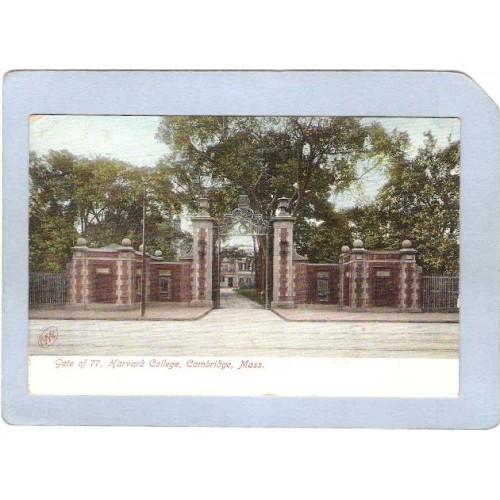 MA Cambridge Gate Of 77 Harvard University Undivided Back ma_box1~398