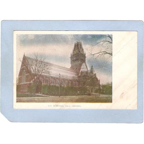 MA Cambridge Memorial Hall Harvard University Undivided Back ma_box1~457