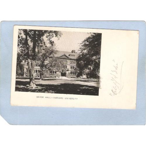 MA Cambridge Sever Hall Harvard University Undivided Back ma_box1~467