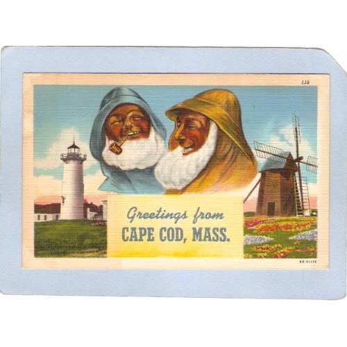 MA Cape Cod Greetings From Cape Cod Mass  ma_box2~509