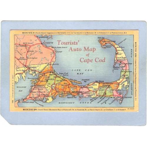 MA Cape Cod Tourists Auto Map Of Cape Cod ma_box2~524