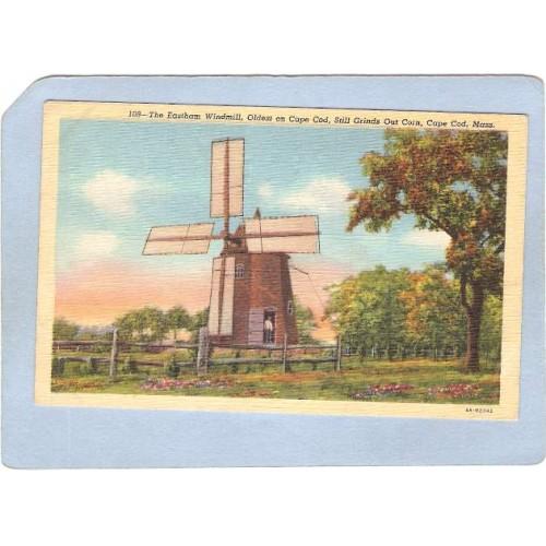 MA Cape Cod Easthams Old Windmill 1793 ma_box2~597