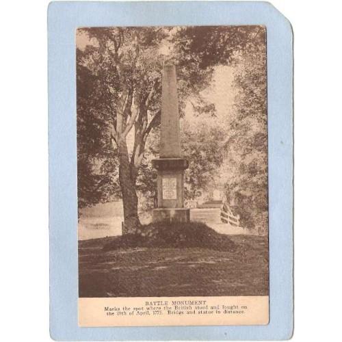 MA Concord Battle Monument At Old North Bridge ma_box2~851