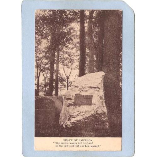 MA Concord Ralph Waldo Emersons Grave ma_box2~875