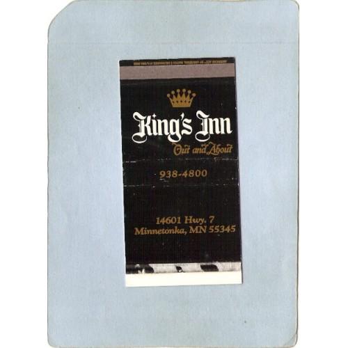 MN Minnetonka Matchbox Matchcover King's Inn 14061 Hwy 7 state_box5~87