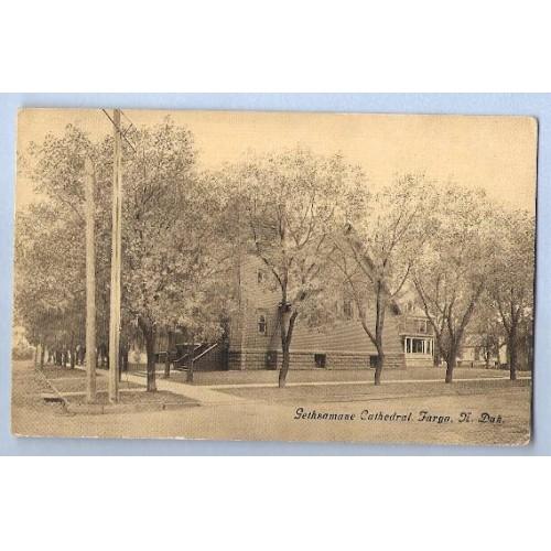 ND Fargo Postcard Gethsamne Cathedral state_box6~16