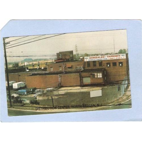 NJ North Bergen Advertising Card Showing Distribution Center For Gonzalez ~1010
