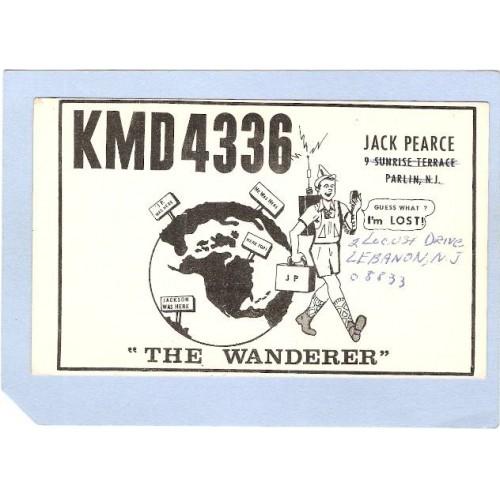 NJ Lebanon QSL Card KMD4336 Jack Pierce 2 Locust Drive nj_box3~1065