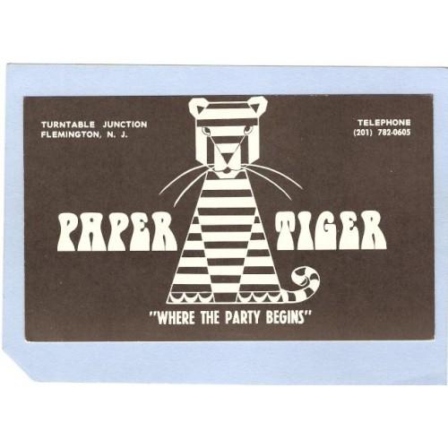 NJ Flemington Advertising Card Paper Tiger Turntable Junction nj_box3~1104