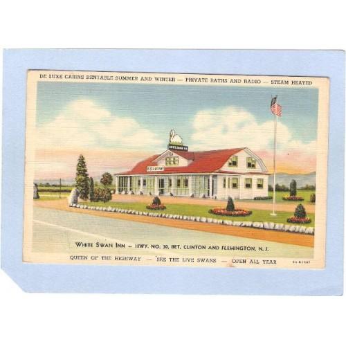 NJ Flemington White Swan Inn Hwy 30 Bet Clinton & Flemington nj_box3~1124