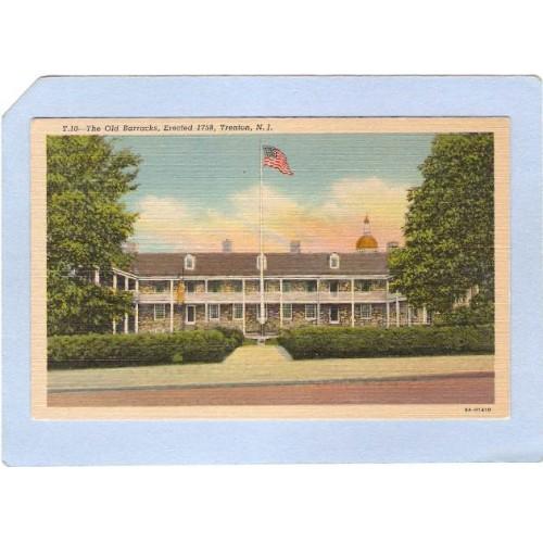 NJ Trenton The Old Barracks Erected 1758 nj_box3~1325