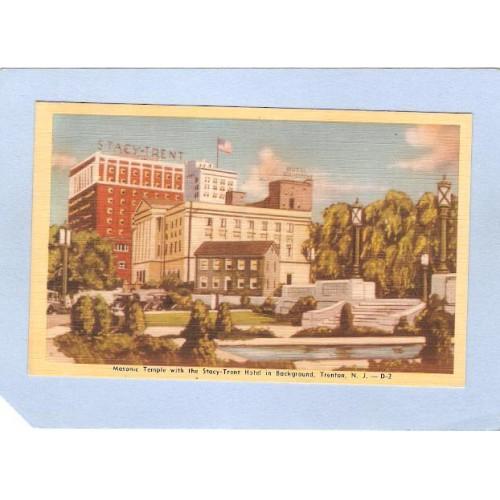 NJ Trenton Masonic Temple With The Stacy-Trent Hotel In Background nj_b~1370