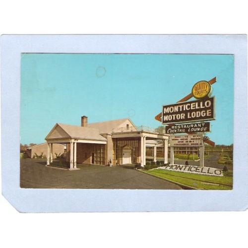 NJ Bellmawr Monticello Motor Lodge Black Horse Pike  nj_box4~1502