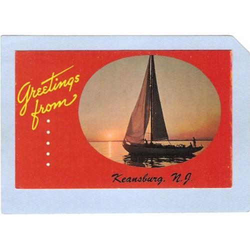 NJ Keansburg Greetings From Keansburg NJ nj_box4~1543