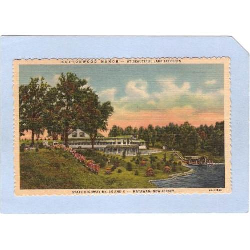 NJ Matawan Buttonwood Manor At Beautiful Lake Lefferts State Highway No 34~1579