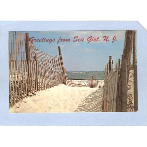NJ Sea Girt Greetings From Sea Girt Sand Path nj_box4~1599