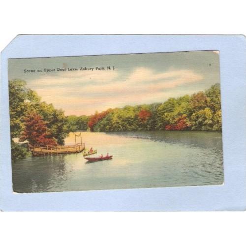 NJ Asbury Park Scene On Upper Deal Lake nj_box4~1746