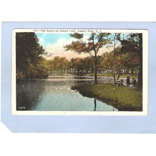 NJ Asbury Park The Swans On Sunset Lake nj_box4~1767