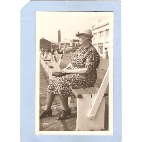 NJ Asbury Park Real Photo Post Card Advertising Action Photos 821 Boardwal~1813