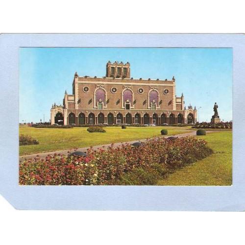 NJ Asbury Park Convention Hall Looking Seaward From Bradley Park nj_box~1833