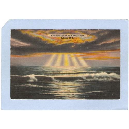 NJ Belmar A Sudden Mood Of A Sunset Sea nj_box4~1876