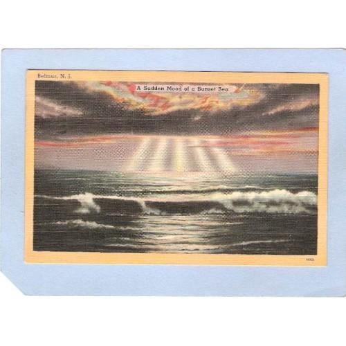 NJ Belmar A Sudden Mood Of A Sunset Sea nj_box4~1877