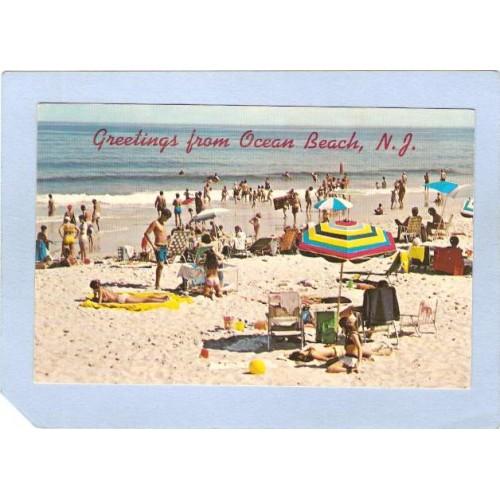NJ Ocean Beach Greetings From Ocean Beach NJ nj_box4~1909