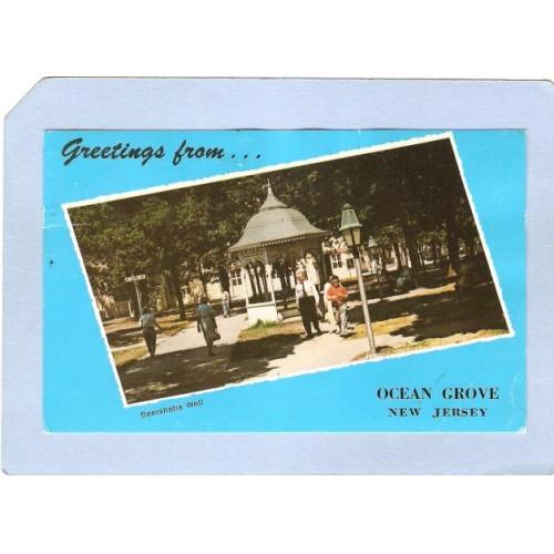 NJ Ocean Grove Greetings From Ocean Grove NJ View Of Beersheda Well nj_~1934