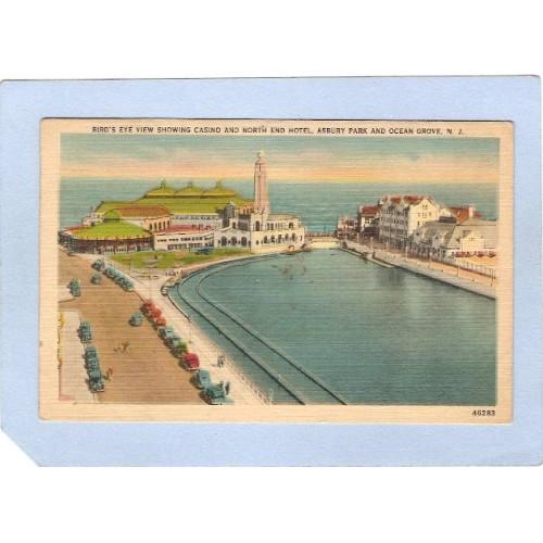 NJ Ocean Grove Birds Eye View Showing Casino & North End Hotel Asbury Park~1981