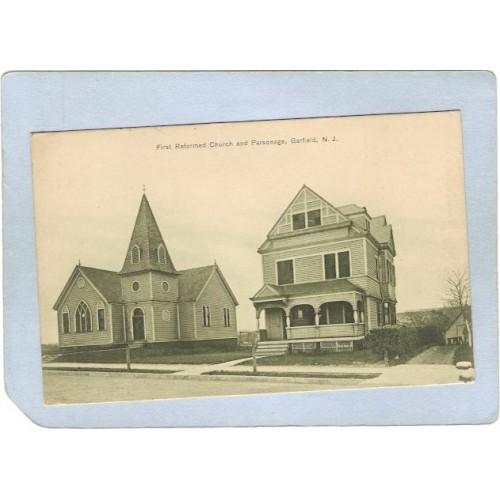 NJ Garfield First Reformed Church & Parsonage Street Scene nj_box1~3140