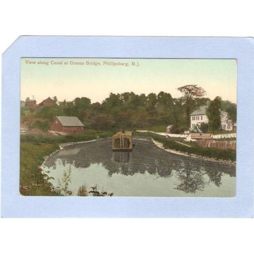 NJ Morris Canal View Along Canal At Greens Bridge Phillipsburg NJ~208
