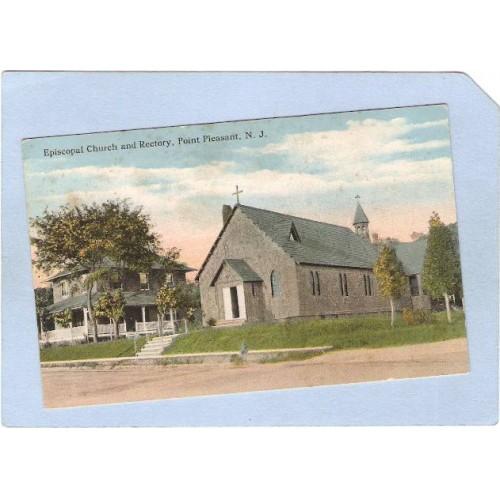 NJ Point Pleasant Episcopal Church & Rectory Street Scene nj_box5~2333