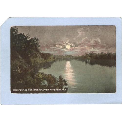NJ Paterson Moonlight On The Passaic River nj_box5~2419