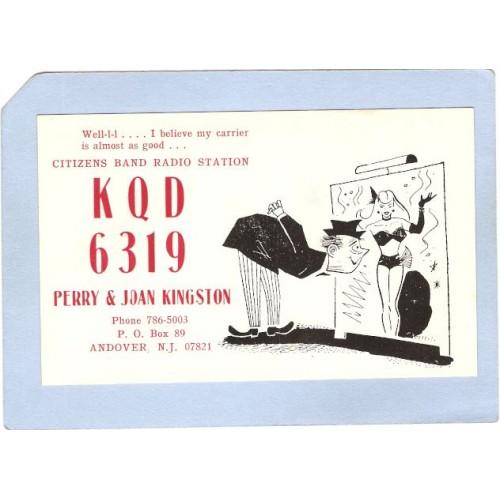 NJ Andover QSL Card KQD 6319 Perry & Joan Knigston PO Box 89 Andover NJ ~2630
