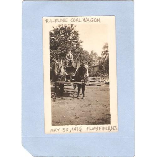 NJ Plainfield Snapshot R L Kline Coal Wagon May 30 1916 nj_box6~2679