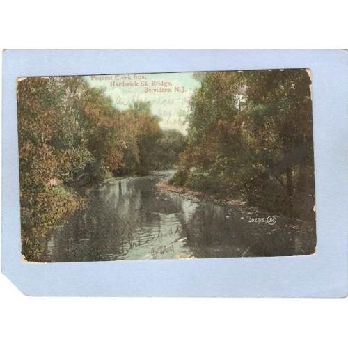 NJ Belvidere Pequest Creek From Hardwick St Bridge nj_box6~2834