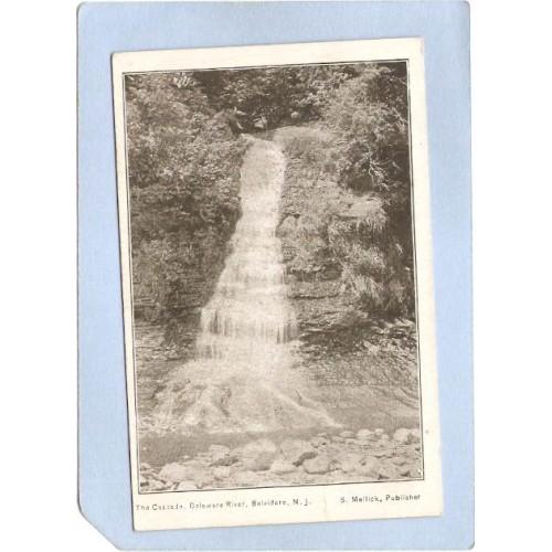NJ Belvidere The Cascade Delaware River Private Mailing Card nj_box6~2841