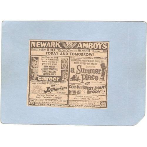 NJ Newark Newspaper Ad Newark Evening News Listing Movies & Show Times At ~3263