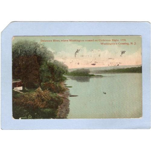 NJ Washingtons Crossing Delaware River Where Washington Crossed Christmas ~3004