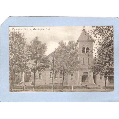 NJ Washington Methodist Church Street Scene  nj_box6~3014