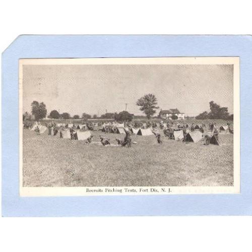 NJ Fort Dix Recruits Pitching Tents Fort Dix NJ nj_box1~347