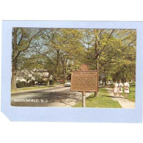 NJ Haddonfield Plaque Denoting Historic Haddonfield NJ nj_box1~374