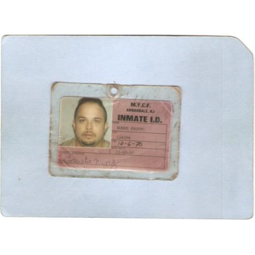 NJ Annandale M Y C F Inmate I D Card Fausto Nunez nj_box3~3315