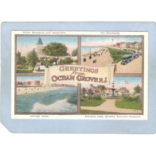 NJ Ocean Grove Greetings From Ocean Grove NJ 4 View nj_box4~3683
