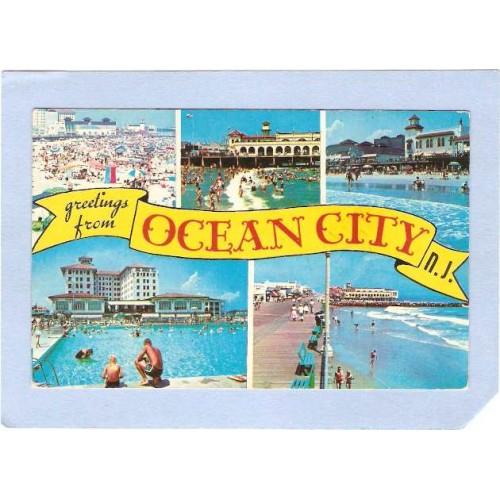 NJ Ocean City Greetings From Ocean City 6 Views nj_box2~556