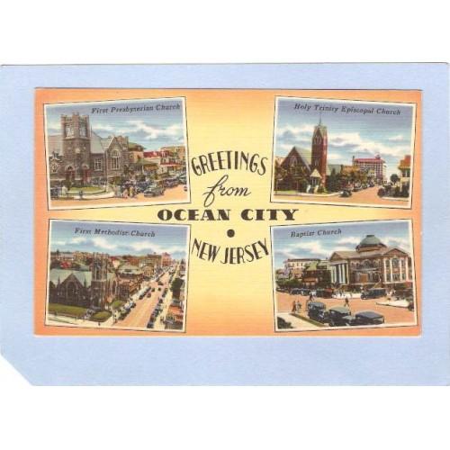 NJ Ocean City Greetings From Ocean City 4 Views nj_box2~559