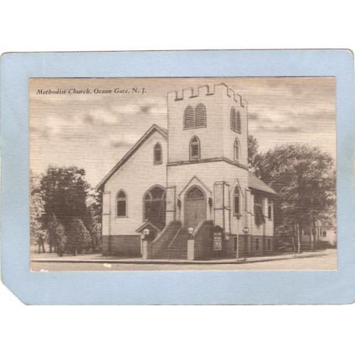 NJ Ocean Gate Methodist Church Street Scene Intersection nj_box5~3693