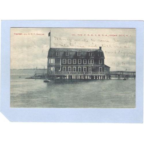 NJ Ocean City The P R R Y M C A Early Back 1906  nj_box2~629